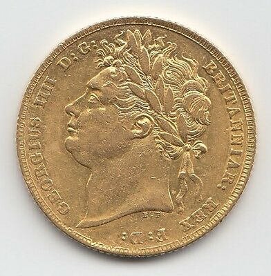 1824 George IV Gold Sovereign - Great Britain