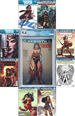 Wonder Woman: Rebirth #1 SDCC Variant CGC 9.4 + #1, 3 and 4 ALL Covers NM+/NMMT