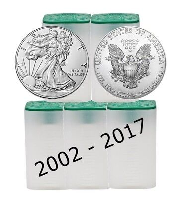 bse 5 Back Date between 2002-2017 1oz American Silver Eagles