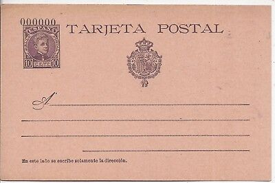 Spain 1897 10c  stationery card 000000 number unused