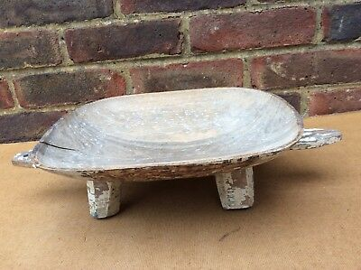Antique Wooden African Four Footed Bowl