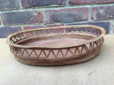Collectable Vintage African Fine Wicker Bowl