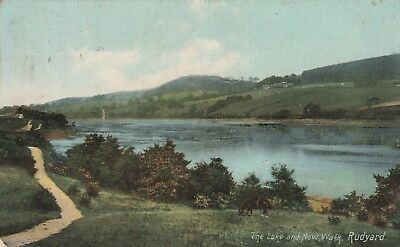 1908 PostcardThe Lake & New Walk Rudyard Stoke on Trent Shaws Series Burslem