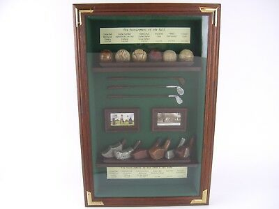 Vintage Golf Themed Shadow Box Display