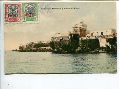 Dominican Republic picture post card to Sweden 1922, franked on front