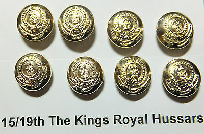 15/19th Kings Royal Hussars Buttons