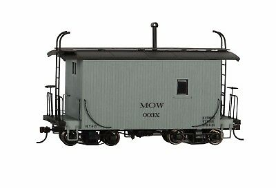 On30 Bachmann Spectrum 26561 * 18' Logging Caboose, MOW Gray, Data Only