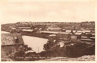 Early MILFORD HAVEN View from the Rath - houses, factories, Frith's Series