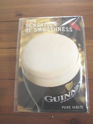 Guinness embossed metal Pub Sign, Pure Magic, Genuine Licensed Product