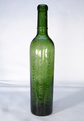 Dr Andrew Lippi Mfg Chemist Philadelphia Pa Philada Sharp Green Medicine Bottle