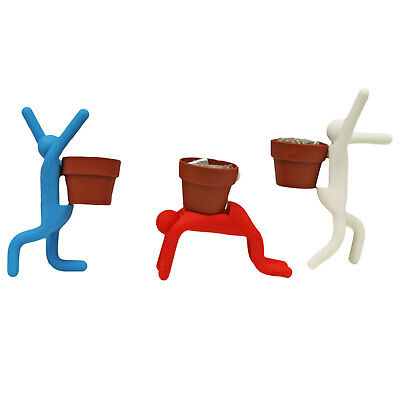 Unique Grow & Pose Bendable Figure with Seeds in Little Plant Pot on Back