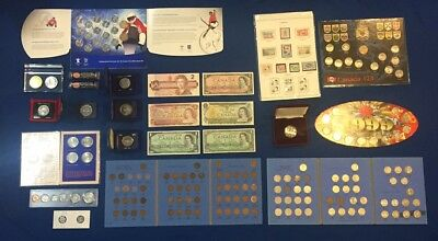 Huge Canadian Banknote Collection, and Coins. Silver. Estate Lot. See Pictures!