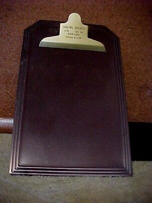 """Stag Beer Metalclipboard Carling Bry. From 60's Scratchless Back 5""""x 8"""" Ad4 1234"""