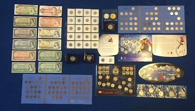 Huge Canadian Banknote Collection, and Coins. Silver. Estate Lot. View Photos!