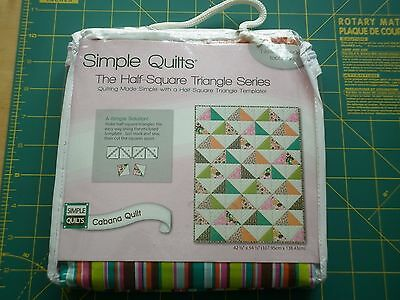 The Half Square Triangle Quilt Kit - Cabana Quilt - New In Pack -
