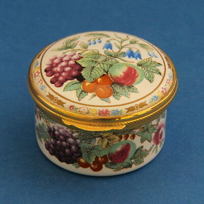 Spode Provence Hand Painted Enamel Pill Trinket Box
