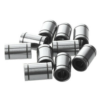 10PCS LM8UU linear ball bearings ideal for use in 3d printers, CNC machines