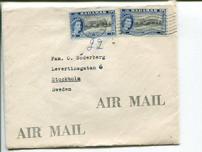 Bahamas air mail cover to Sweden 1960