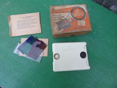 The Philatector Bakelite Electric Water Mark Detector Original Box Etc
