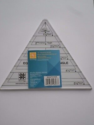 Ez Quilting  60° Triangle Ruler Acrylic Quilting Template - New -