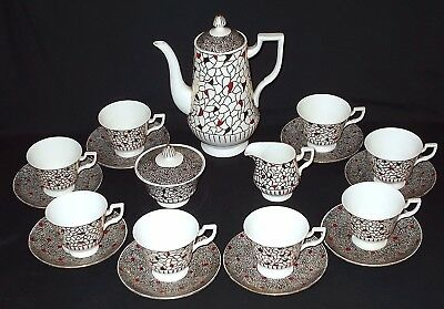 Royal Tuscan HARLEQUIN 19 Piece Coffee Set