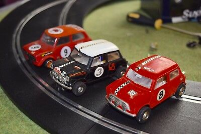 Scalextric Mini vintage 3cars inc early for repair 1/32 slot car