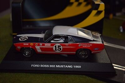 Scalextric C2401 Ford Mustang 69 used 1/32 slot car with box