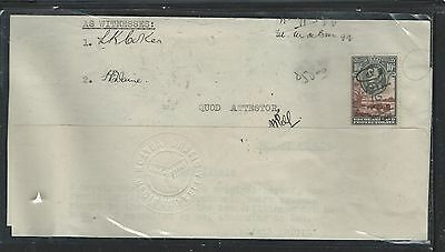 Bechuanaland  (P2903B) Kgvi 10/-  On Document  Vf