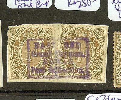 Cayman Islands  (P1603B) Kgv 1/4Dx2 On Piece With Great East End Cancel Vfu