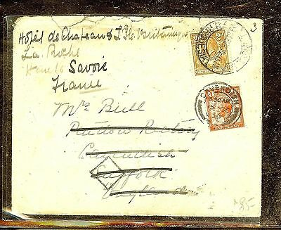 Northern Rhodesia  (P1210B) Kgv 2D Sent To England Forwarded To France With Gb S
