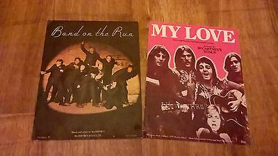 Wings sheet music - My Love & Band on the run