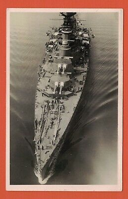 Real Photo Postcard, Large Royal Navy Warship