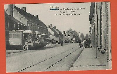 WW1 Postcard, Buses on the Square at Proven