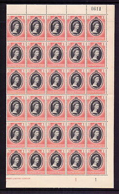 St Lucia 1953 Coronation Complete Mnh Sheet Of 60