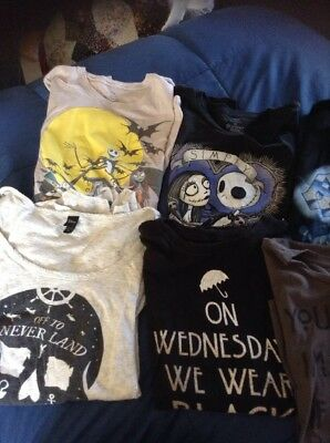 Hot Topic Disney AHS Nightmare Before Christmas Top Lot Of 7 Womens Size 2X XXL