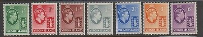 VIRGIN ISLANDS 76-82 Geo VI Mint H