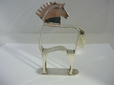Stunning, Rare Large Unique Vintage Sterling Silver Horse Sculpture Statue