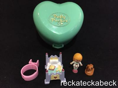 1991 Polly pocket MIDGE'S BEDTIME RING CASE 100% complete VGC