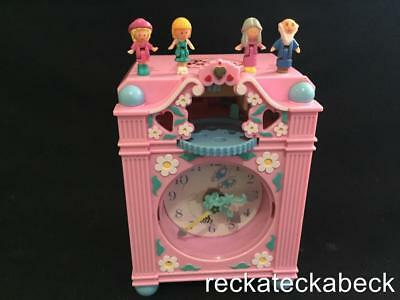 1991 polly pocket FUNTIME CLOCK IN  PINK 100% complete