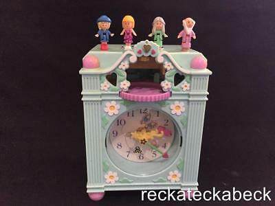 1991 polly pocket FUNTIME CLOCK IN BLUE  100% complete & working  RARE