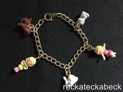 1994 Polly Pocket  POLLY'S PET  CHARM BRACELET 100% comp Furry pets collection