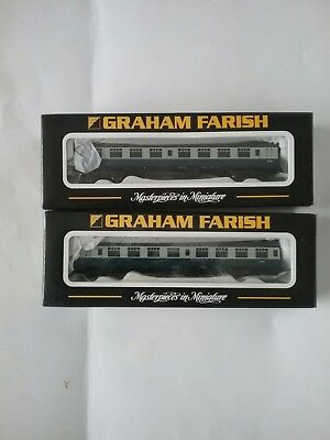 GRAHAM FARISH N GAUGE two blue/grey Mk 1 coaches Second SK