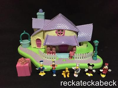 1995 polly pocket Disney MINNIE SURPRISE PARTY 100% complete VGC RARE LIGHTS UP