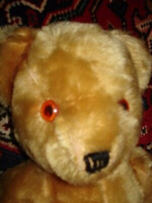"""Nice Vintage Antique Golden Mohair Jointed Teddy Bear 16"""""""