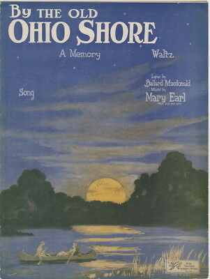 By The Old Ohio Shore    1921   Vintage sheet music