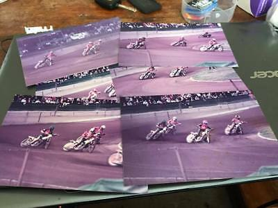 Wimbledon Dons V Leicester Lions--6X4-1970's--Speedway Action Photos