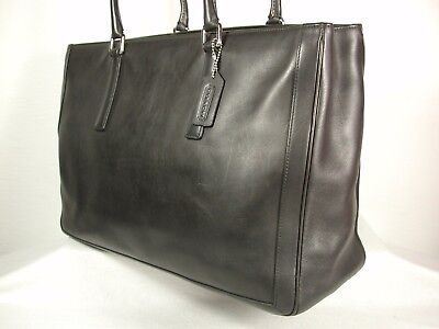 Coach 9426 Xl Black Leather Carryall Tote Briefcase Laptop Bag