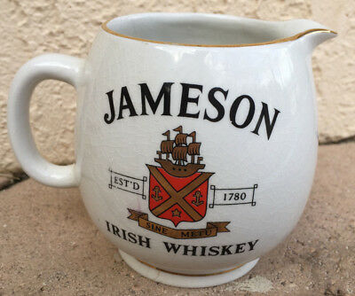 Old Jameson Irish Whiskey, Small 4 in. Pitcher made in Ireland of Arklow China