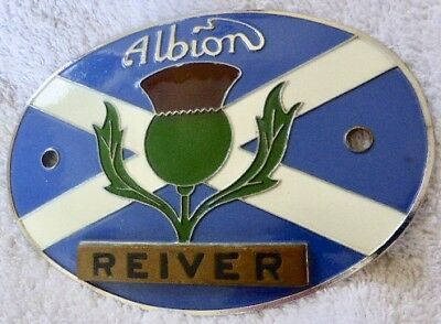 Albion REIVER  Commercial Vehicle radiator badge in super condition