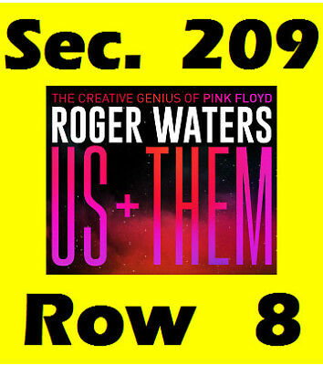 Roger Waters Tickets Edmonton Sec 209 Row 8 Rogers Place October 24